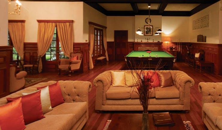 Governor's Mansion Sri Lanka lounge communal indoor seating area billiard table