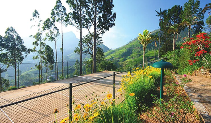 Governor's Mansion Sri Lanka tennis courts flowers countryside and mountain views