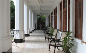 Hotel Suisse Sri Lanka outdoor veranda seating area