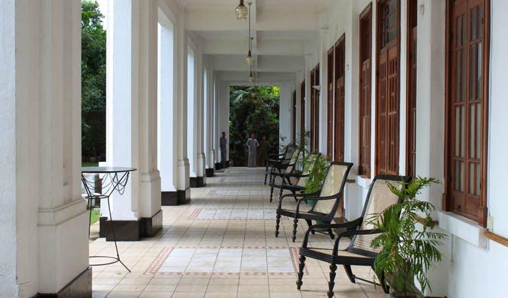 Hotel Suisse Sri Lanka outdoor veranda seating area