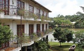 Mahaweli Reach Hotel Sri Lanka exterior hotel balconies river flowers