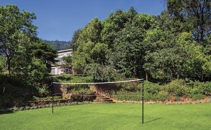 Taylor's Hill Sri Lanka gardens lawn trees shrubs badminton net