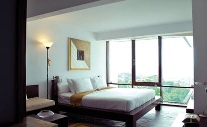 Theva Expressions Sri Lanka bedroom panoramic view of forest