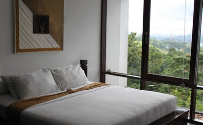 Theva Expressions Sri Lanka Hatara deluxe bedroom minimalist decor forest view