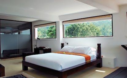 Theva Expressions Sri Lanka modern bedroom minamilst decor dark wood bed