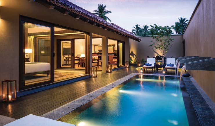 Anantara Kalutara Sri Lanka pool villa private pool sun loungers private enclosed terrace