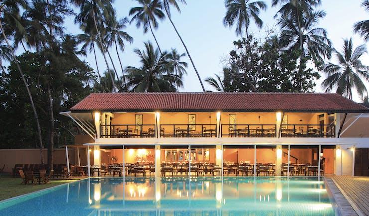 Avani Bentota Sri Lanka restaurant exterior overlooking pool
