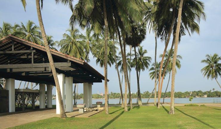 Avani Kalutara Sri Lanka entrance riverside view of river lawns palm trees