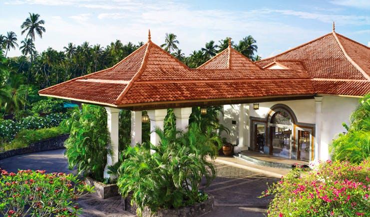 Taj Bentota Sri Lanka exterior white building with terracotta roof gardens