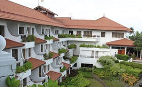 Taj Bentota Sri Lanka hotel exterior white building with balconies