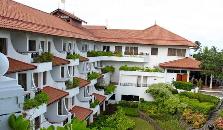 Taj Bentota Sri Lanka hotel exterior white building with balconies