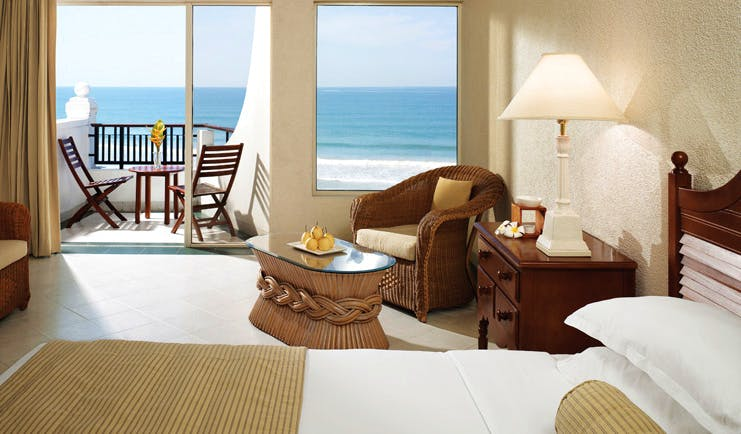 Taj Bentota Sri Lanka ocean bedroom suite with ocean view balcony