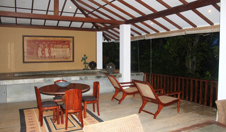 The River House Sri Lanka Menik suite terrace loungers table and chairs and private pool