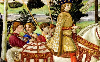 Renaissance picture of prince and men on horseback