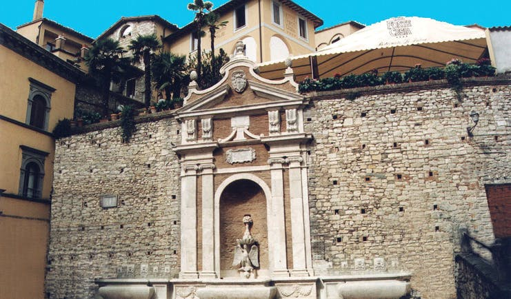 Hotel Fonte Cesia Umbria fountain impressive architecture