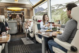 The new Glacier Express Excellence Class cabin